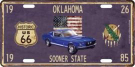 license plate Oklahoma