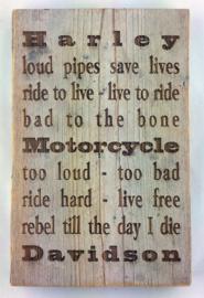 Motorcycle tekstbord