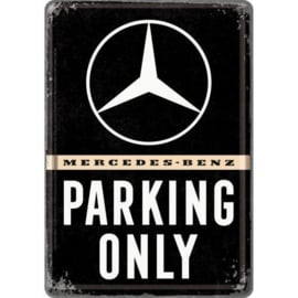 Postcard Mercedes Parking only