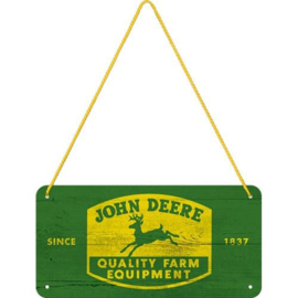 John Deere hanging sign