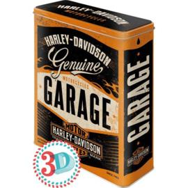 Tin box XL Harley Garage