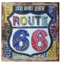 Tin sign Get your kicks route 66