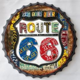 Beercap ROUTE 66 kleur