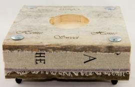 Steigerhouten kaarsen houder 3