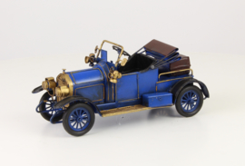 A TIN MODEL OF AN OLDTIMER blue