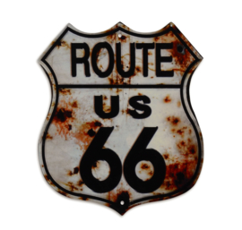 TIN ROUTE 66 SIGN