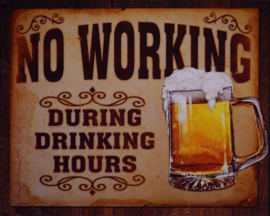 No working  tin Plaque