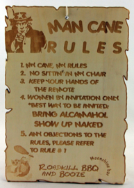 Mancave rules