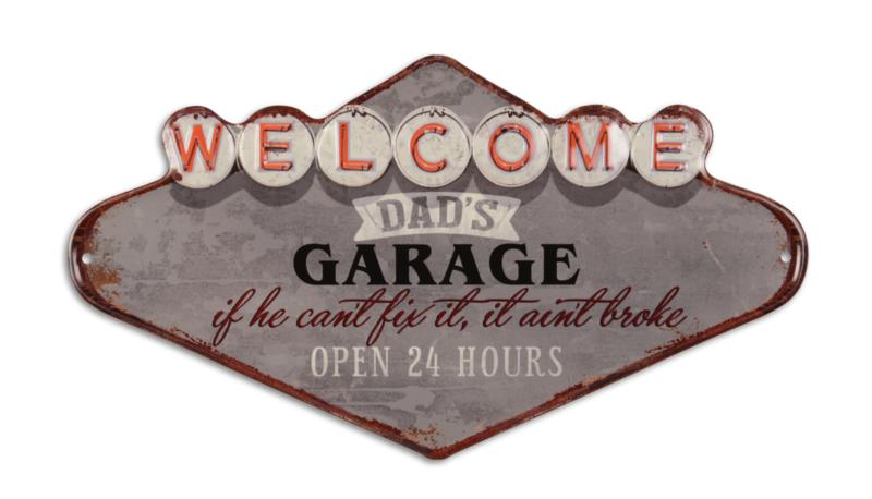 EMBOSSED DAD'S GARAGE