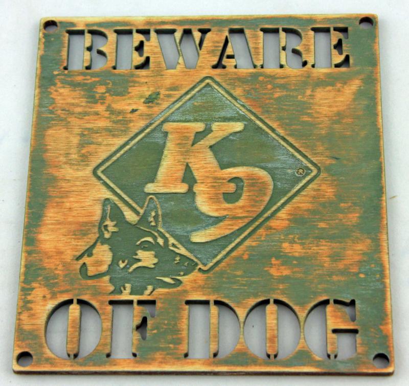 Beware of the dog K9