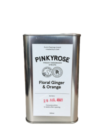 "Pinkyrose  Lemonade ""Floral Ginger & Orange""  siroop"