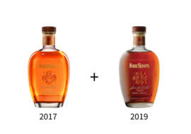 Four Roses Small Batch  Limited editions set 1 fles 2017 + 1 fles 2019