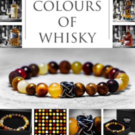"""The colours of whisky"" armband 20 cm."