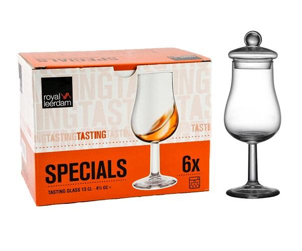 Whisky Nosing & Tasting Tulpglas met Dekseltje doos a 6 Stuks