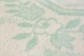 Groen wit gebloemd