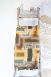 Bruin, groen en oranje tetris