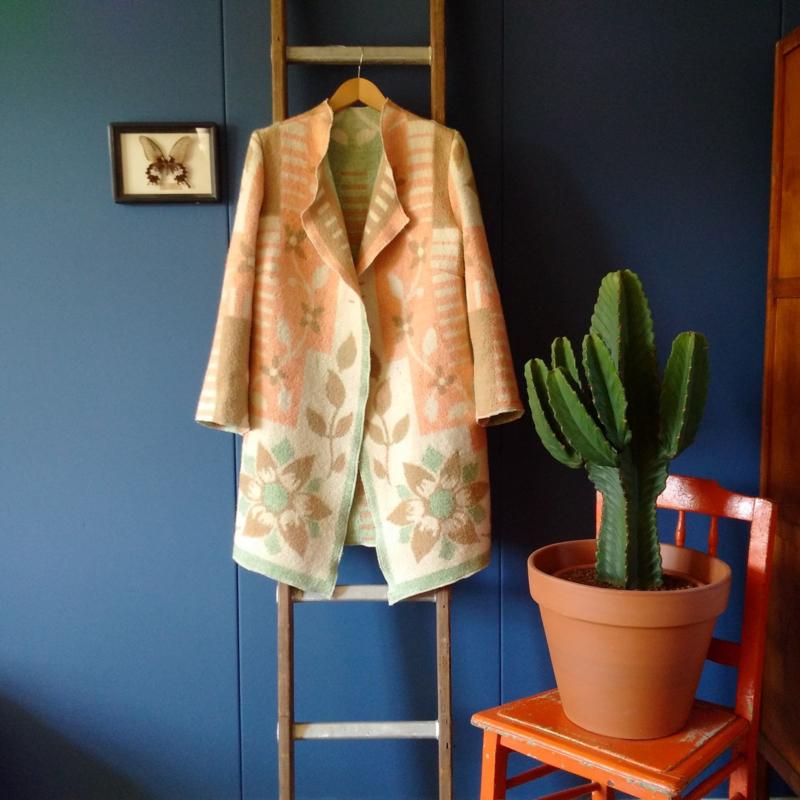 Jas van vintage deken