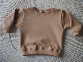 Sweater wafel camel