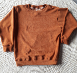 Sweater badstof roest