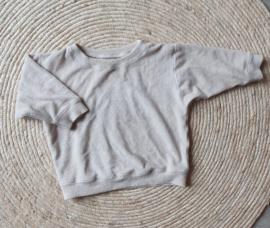 Sweater badstof zand