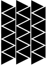Muursticker Triangel