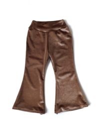Flared pants fluweel cognac