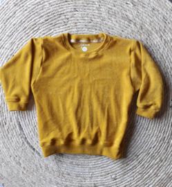 Sweater badstof oker