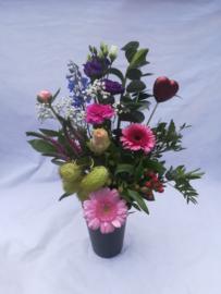 Wild boeket roze (een zijdig)