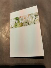 Rouwkaart blanco wit (middel)