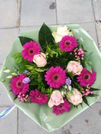 Boeket zacht roze