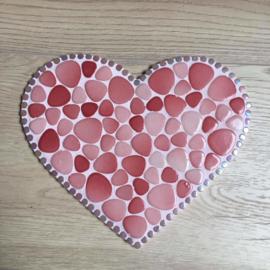 Hart roze extra groot