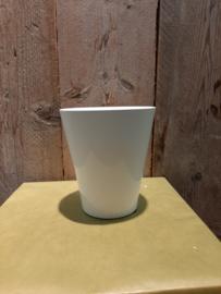 Pot glans wit (orchideeën pot) ○12,5 cm