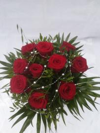 Bruidsboeket luxe rode rozen bolletje