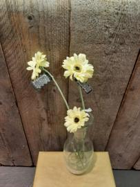 Zijde bloemen los geel