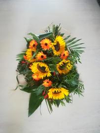rouwboeket  zonnebloem (zoals foto)
