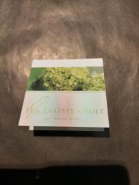 Een laatste groet groen klein
