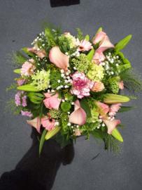 rouwstuk roze Luxe (op foto klein formaat)