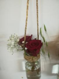 Vaasje voor aan rozen boog luxe