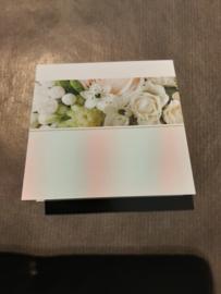 Rouwkaartje wit blanco (klein)