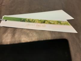 Rust zacht groen langwerpig
