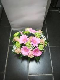 Biedermeier zacht  roze