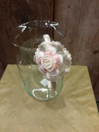 Crème bloemen 3