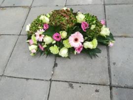 Rouwstuk luxe  hortensia groen/oze (op foto klein formaat)
