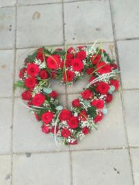 Open hart rood luxe klein  (op foto middel formaat)