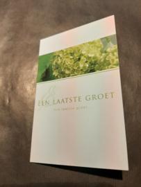 Rouwkaart een laatste groet groen middel