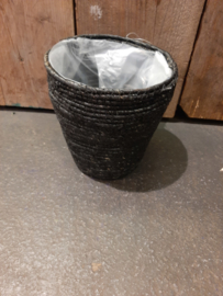Zeegras zwart middel ○18 cm