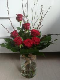 Ambtenaar boeket luxe rozen