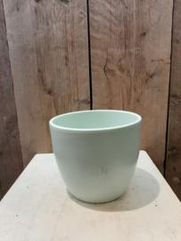 Pot mint groen  groot ○ 14,5 cm