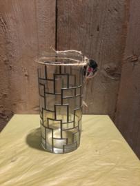 Cilinder vaas blokjes