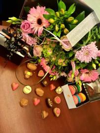 Moederdag Belgische chocolade bonbons (middel)